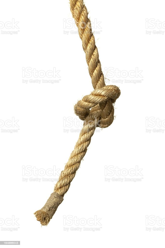 Objects: Rope with Knot royalty-free stock photo