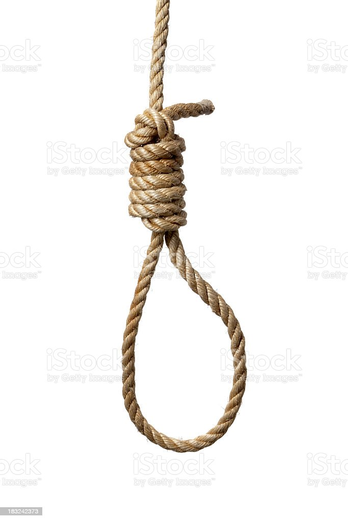 Objects: Rope with Noose stock photo