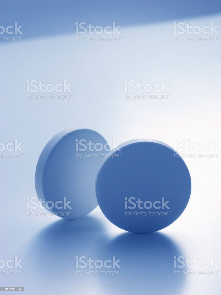 objects: round tablets royalty-free stock photo