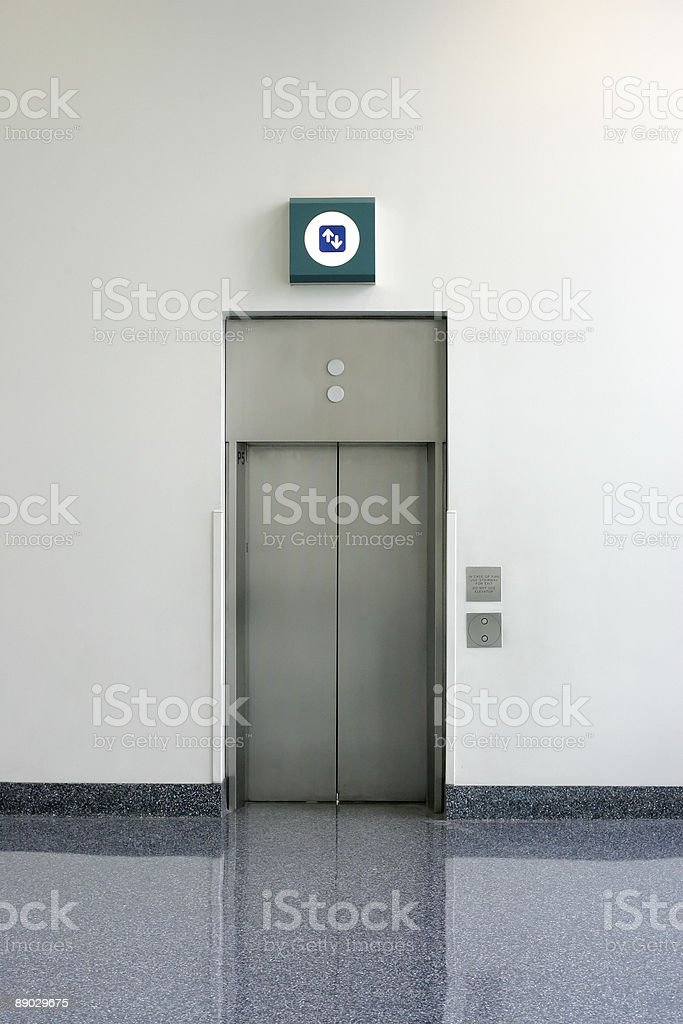 Objects - Simple Isolated Elevator stock photo