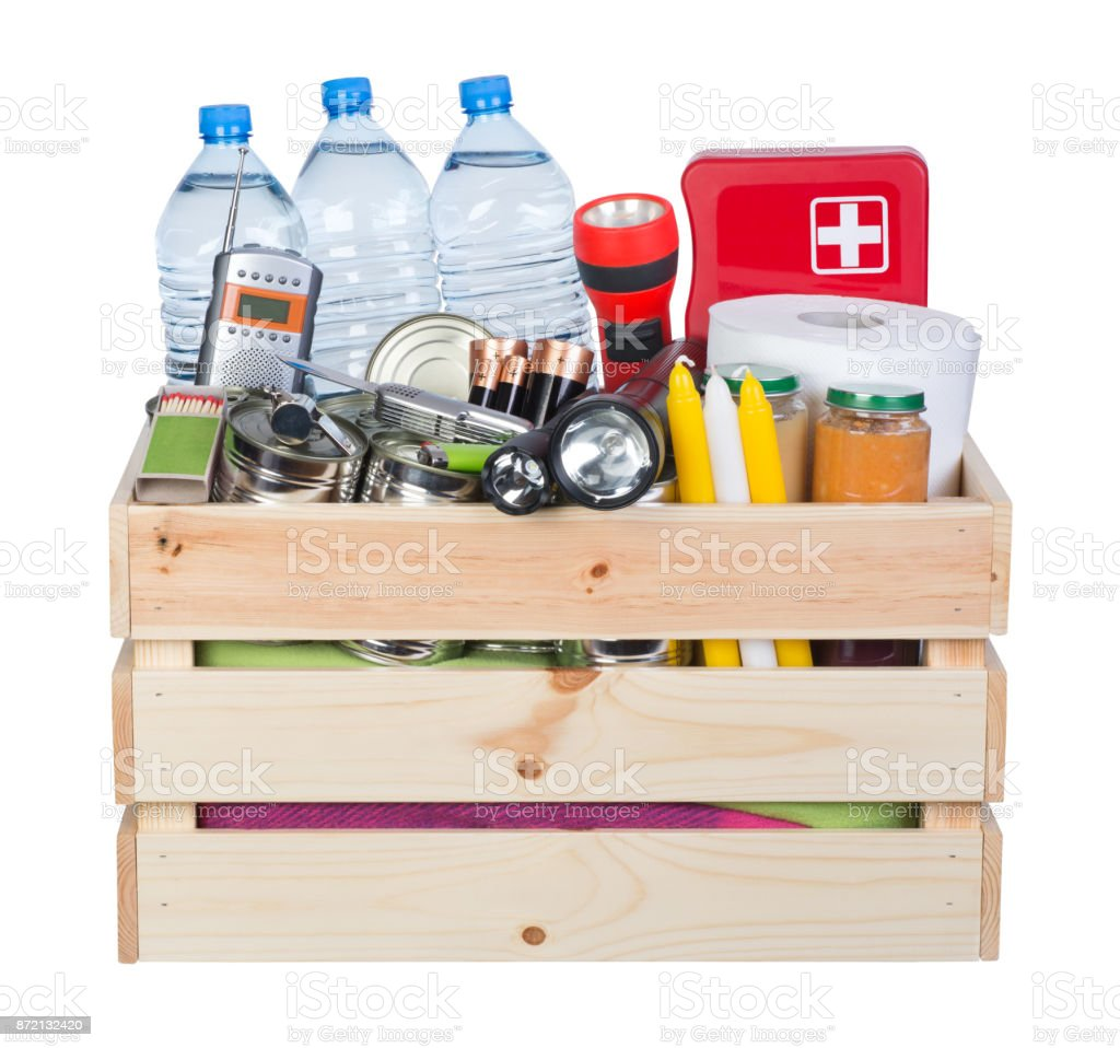 Objects useful in emergency situations such as natural disasters royalty-free stock photo