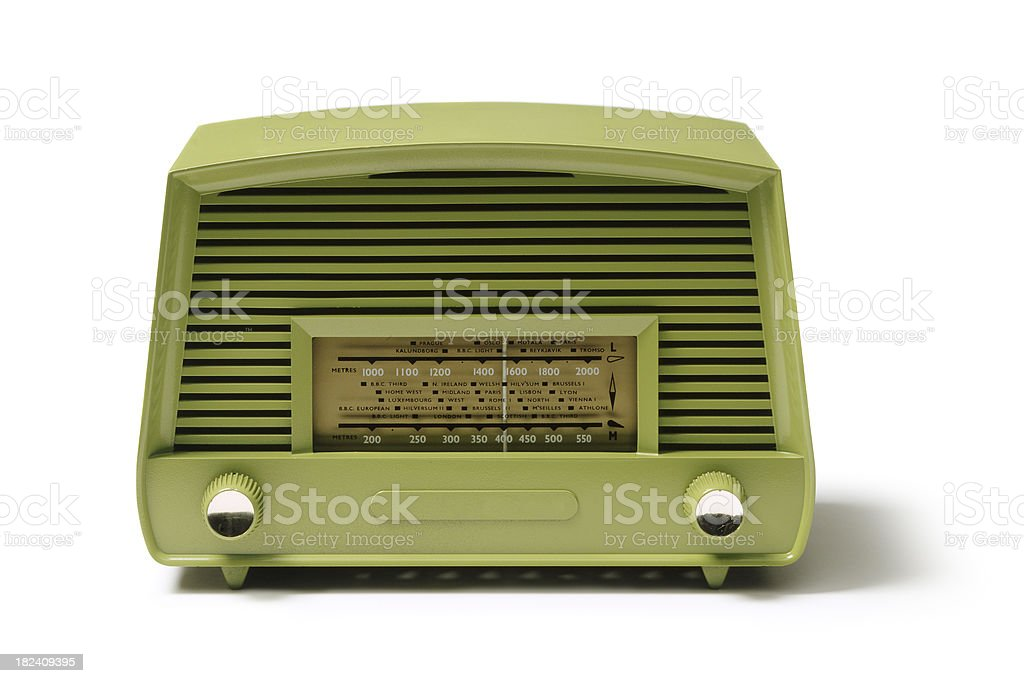 Objects: Vintage Radio stock photo