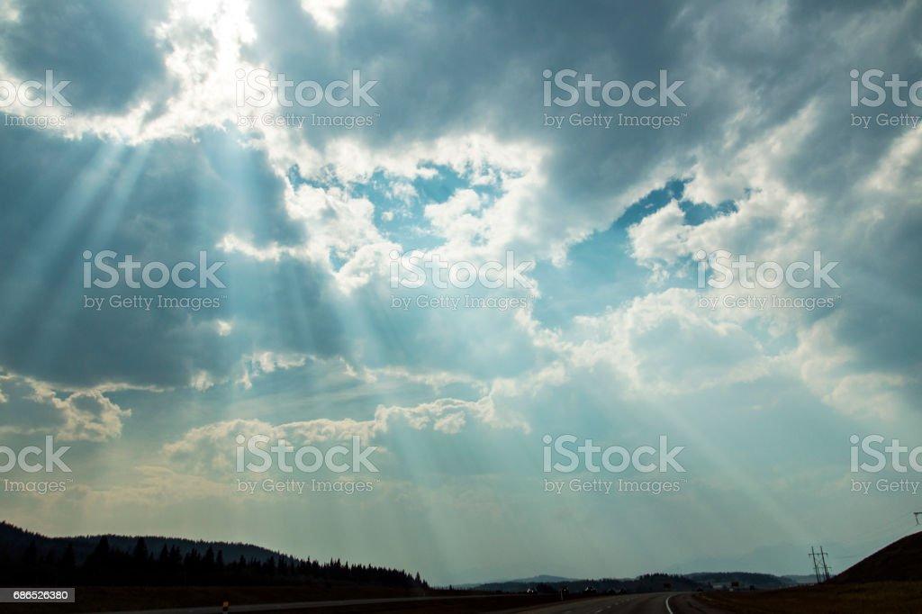 Obligatory god-ray shot royalty free stockfoto