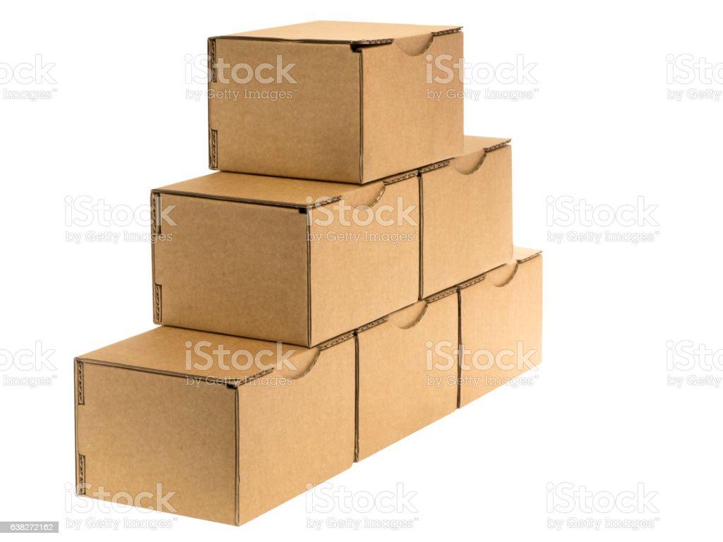 oblique cardboard pyramid stock photo