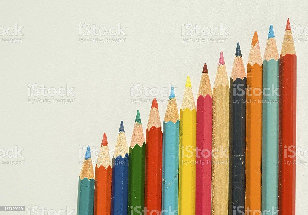 oblique pencils royalty-free stock photo
