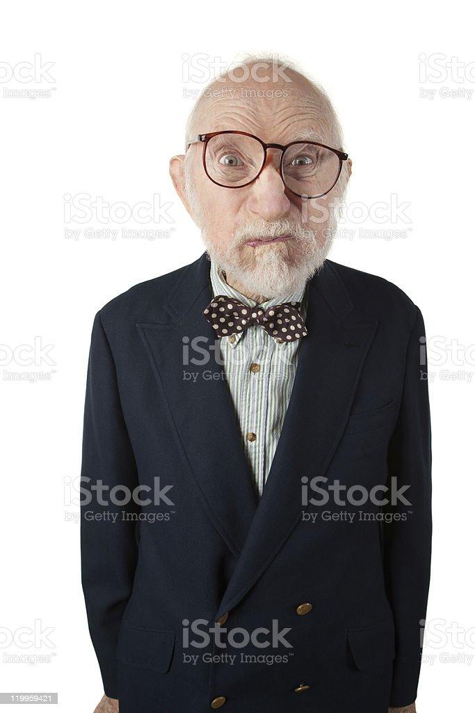 Obnoxious Senior Man stock photo