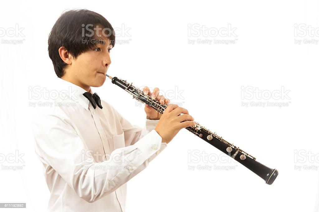 Oboe Performance stock photo