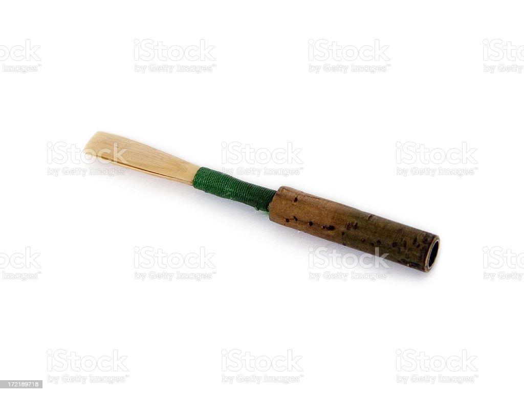 Oboe Reed, Mouthpiece for Double Reed Musical Instrument royalty-free stock photo
