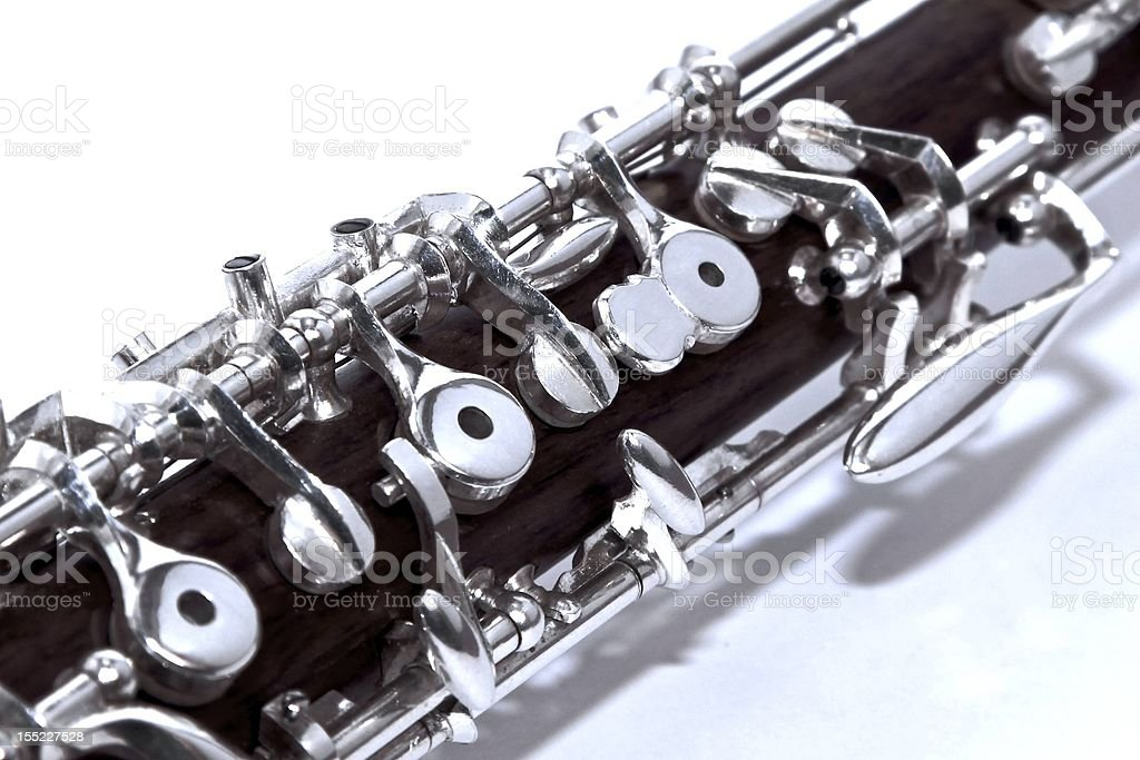 Oboe top joint stock photo