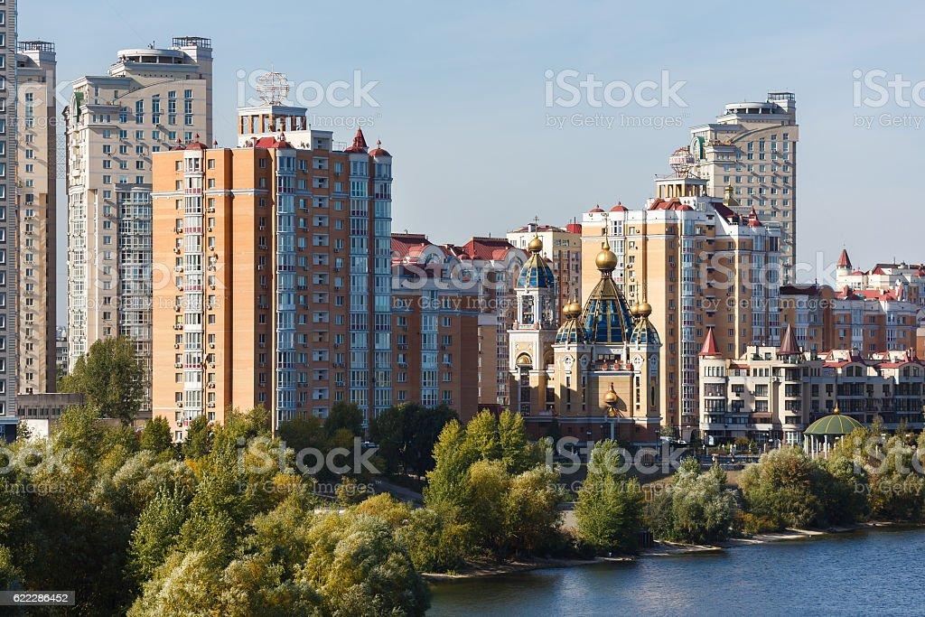 Obolon district, Kiyv stock photo