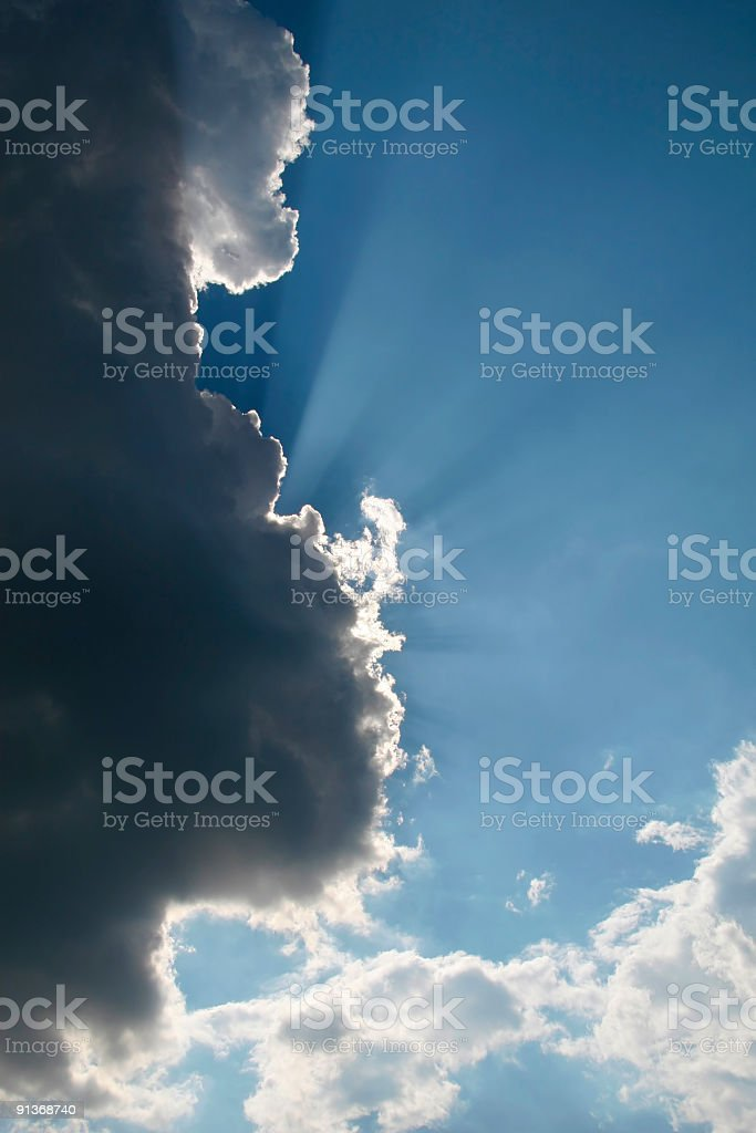 Obscured by clouds royalty-free stock photo