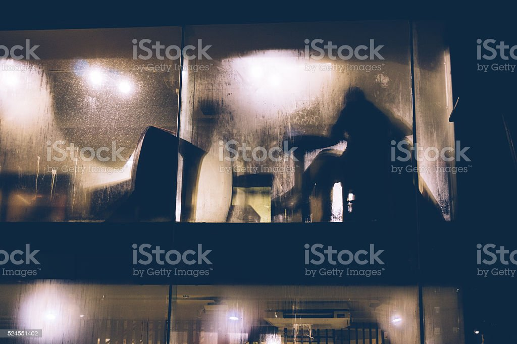 Obscured people seated in restaurant stock photo