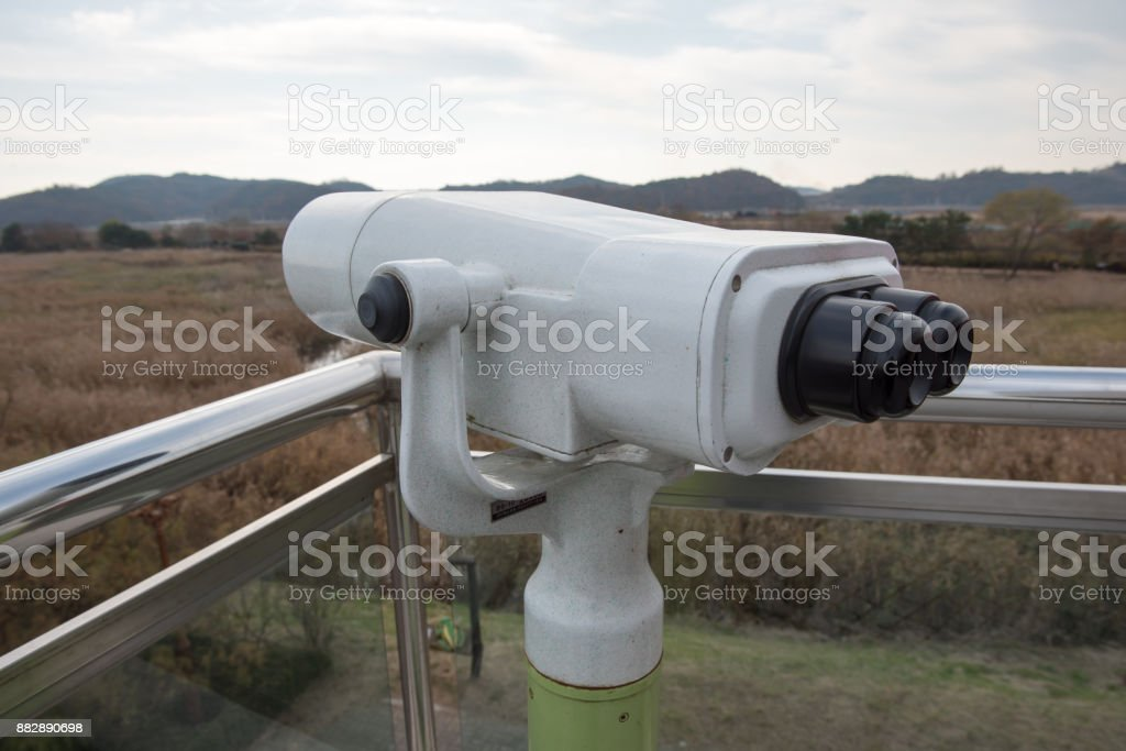 Observation Binoculars stock photo