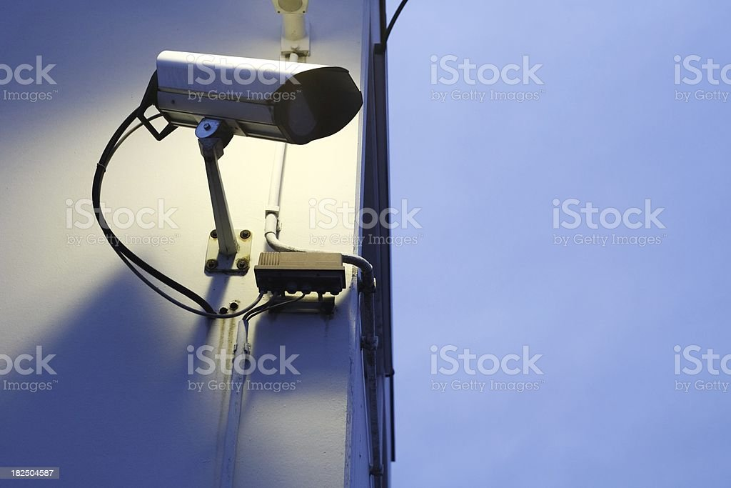 observation camera in twilight and copyspace royalty-free stock photo