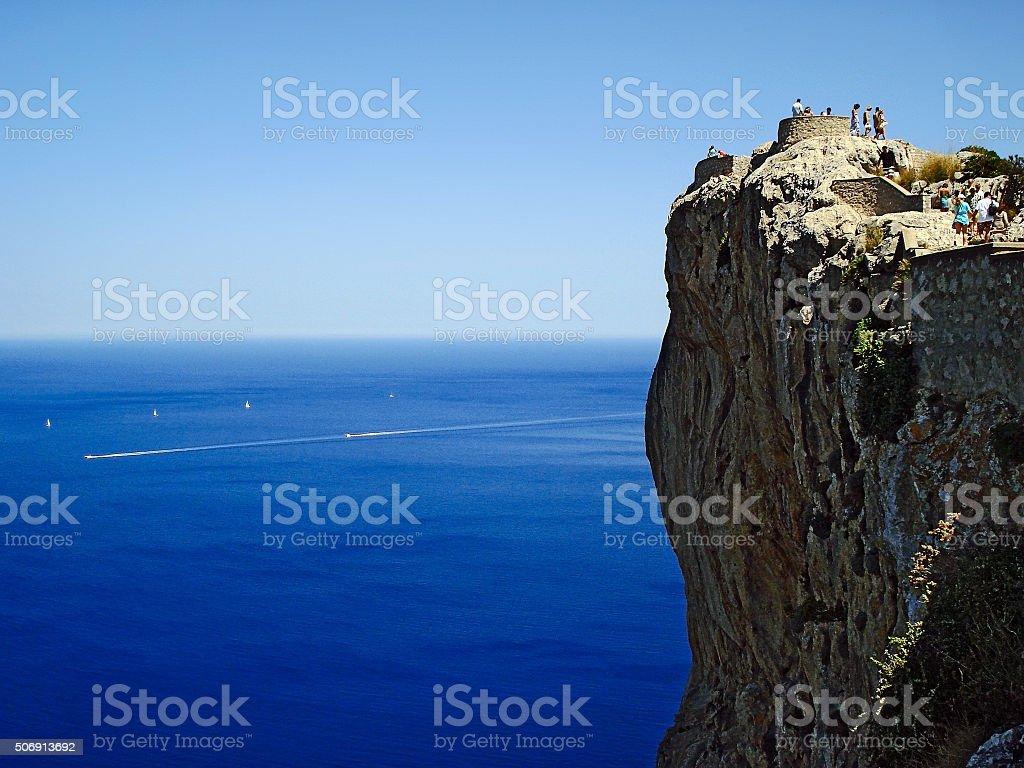 observation deck Mirador d'es Colomer stock photo