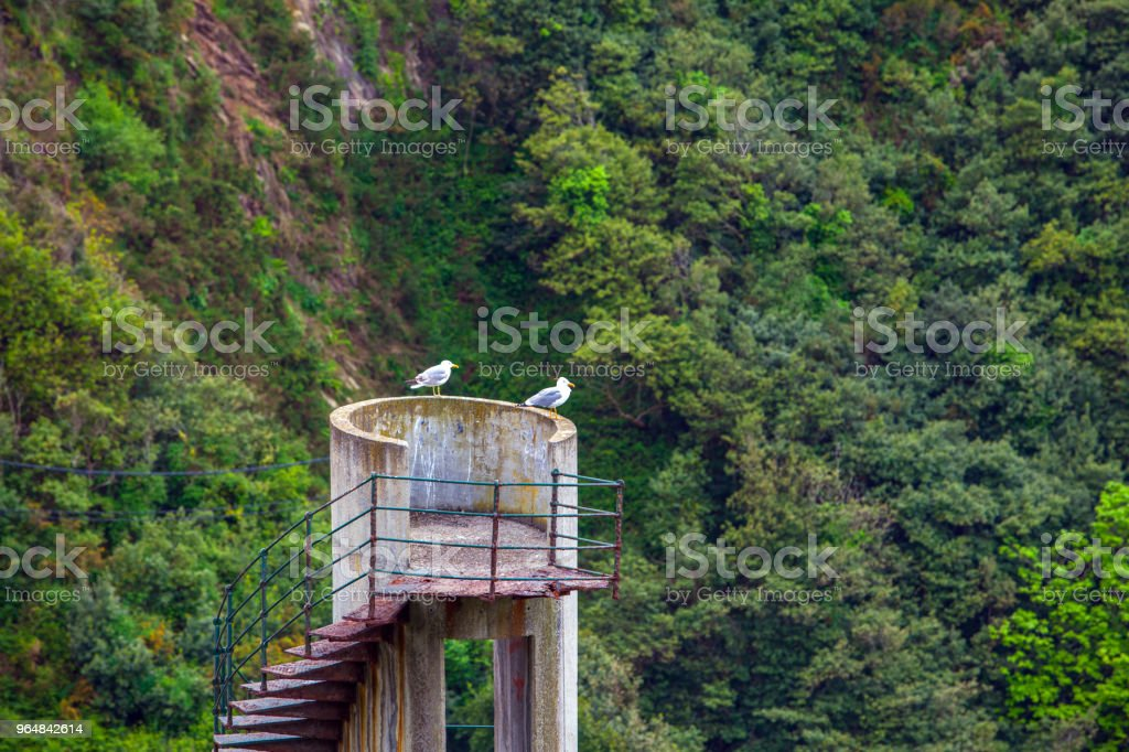 Observation point Cudillero. Asturias. Spain royalty-free stock photo