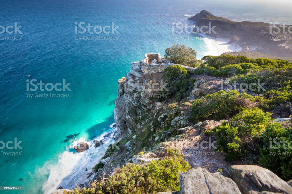 Observation point on the cliffs of Cape Point, South Africa - Royalty-free Africa Stock Photo