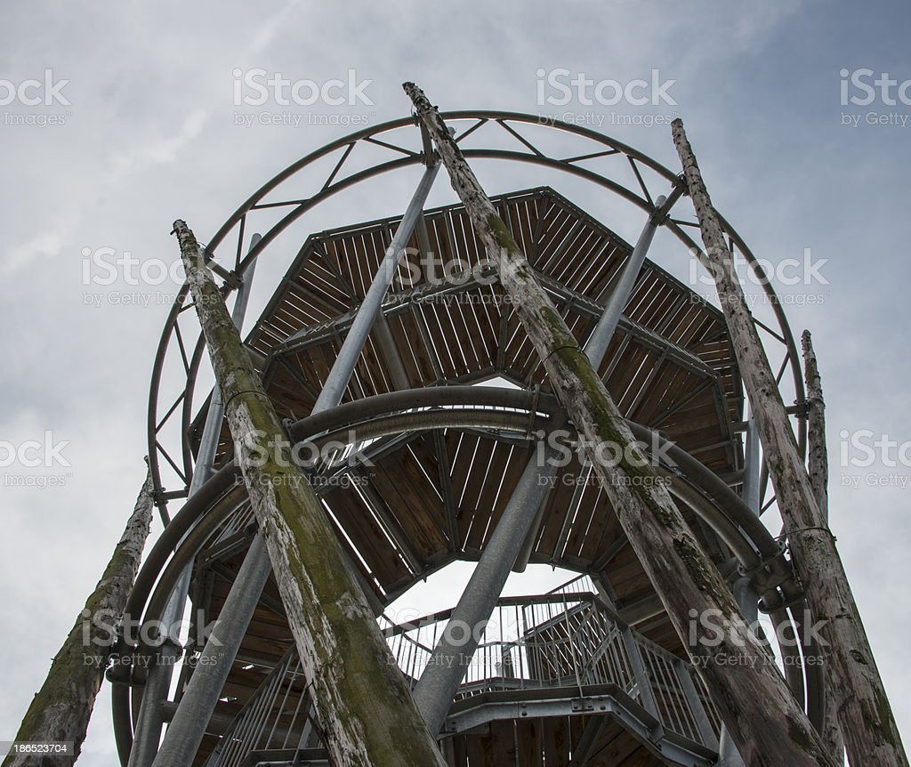 observation post in netherlands nature royalty-free stock photo