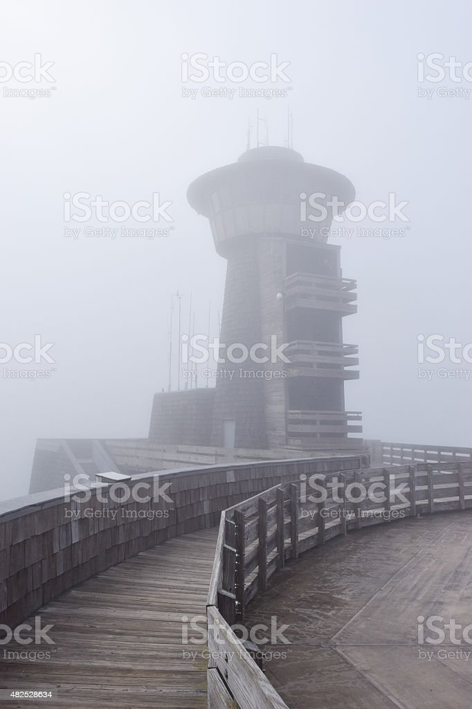 Observation Tower at Brasstown Bald stock photo