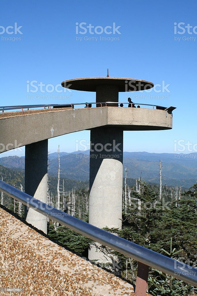 Observation Tower, Clingman's Dome, Great Smoky Mountain National Park stock photo