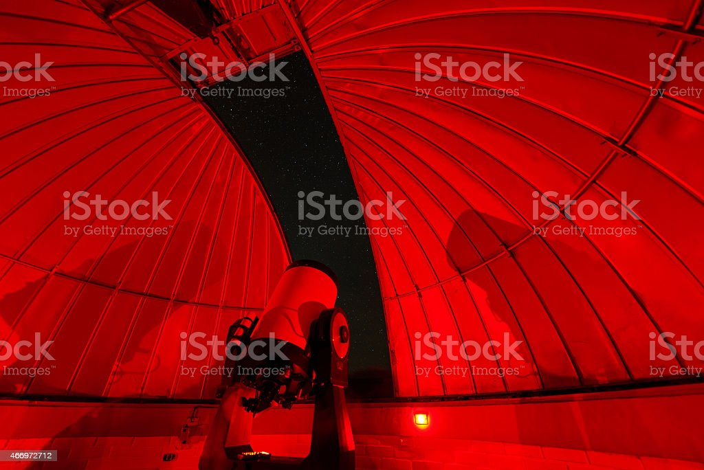 Observatory at Night - Royalty-free 2015 Stock Photo