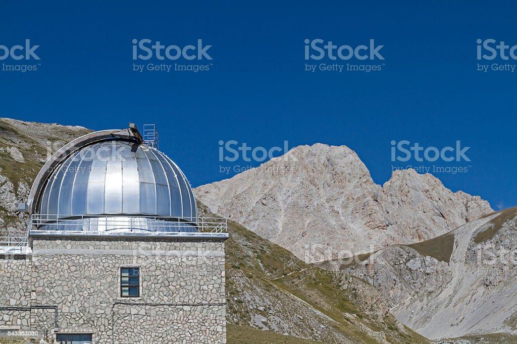 Observatory in Abruzzo stock photo