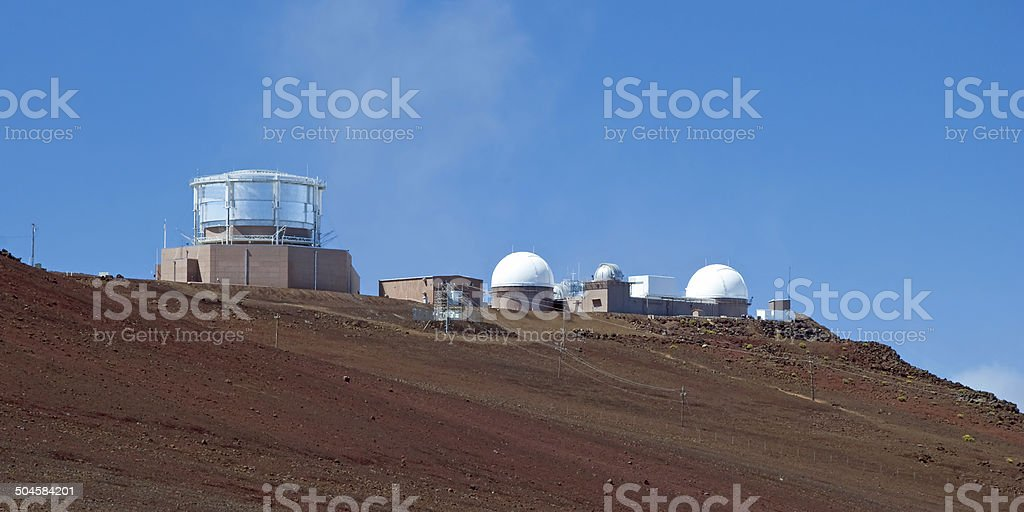 Observatory in Haleakala National Park on Maui Island royalty-free stock photo