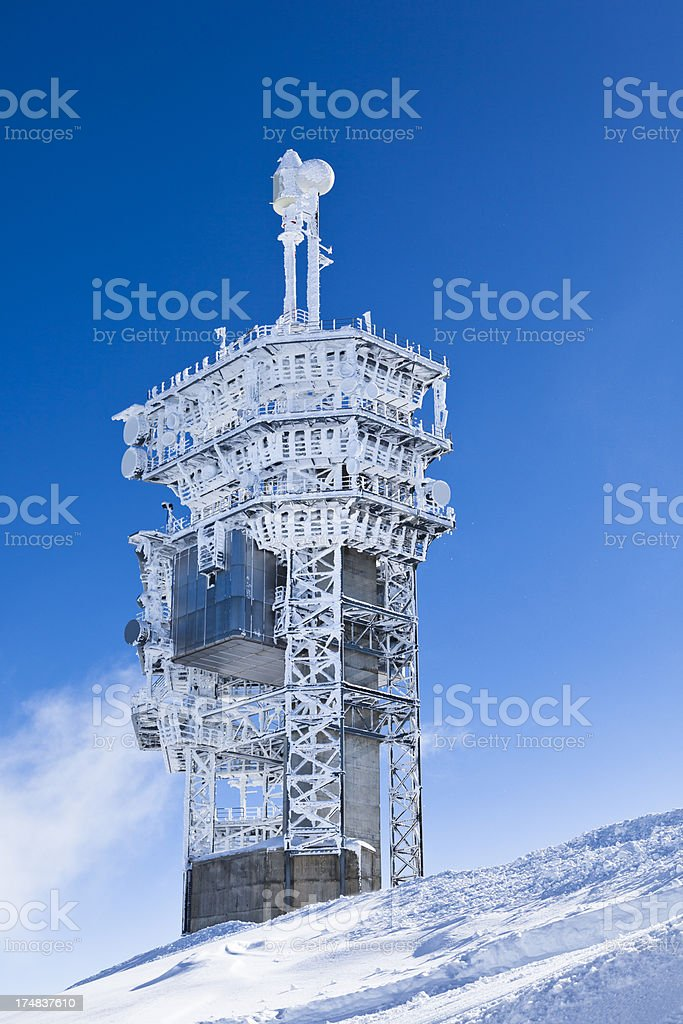 observatory station royalty-free stock photo