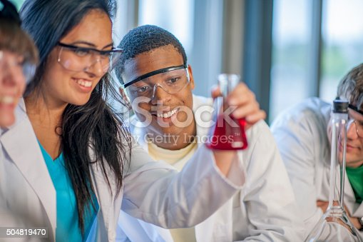 istock Observing a Beaker in the Lab 504819470