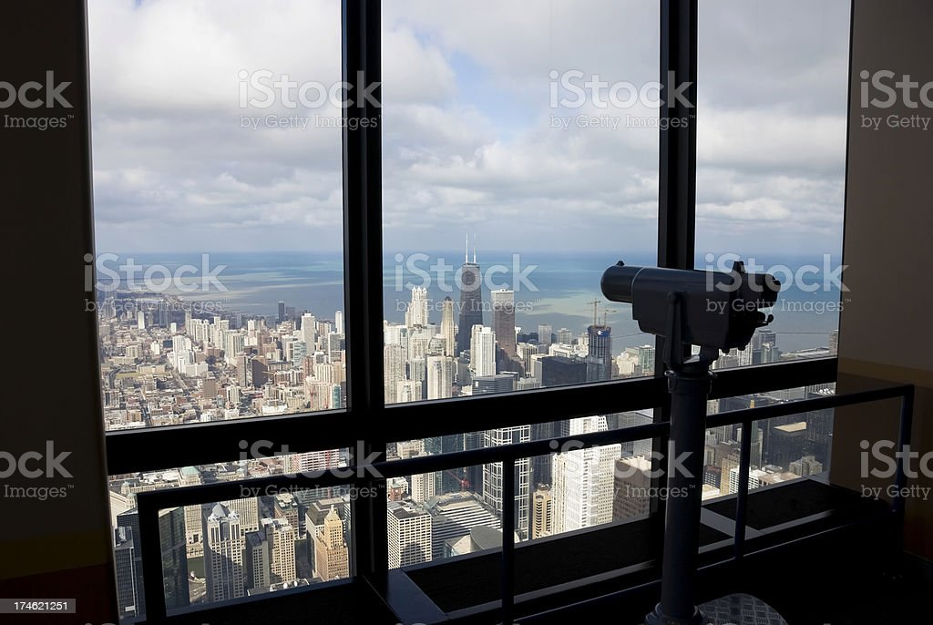 Observing Chicago stock photo