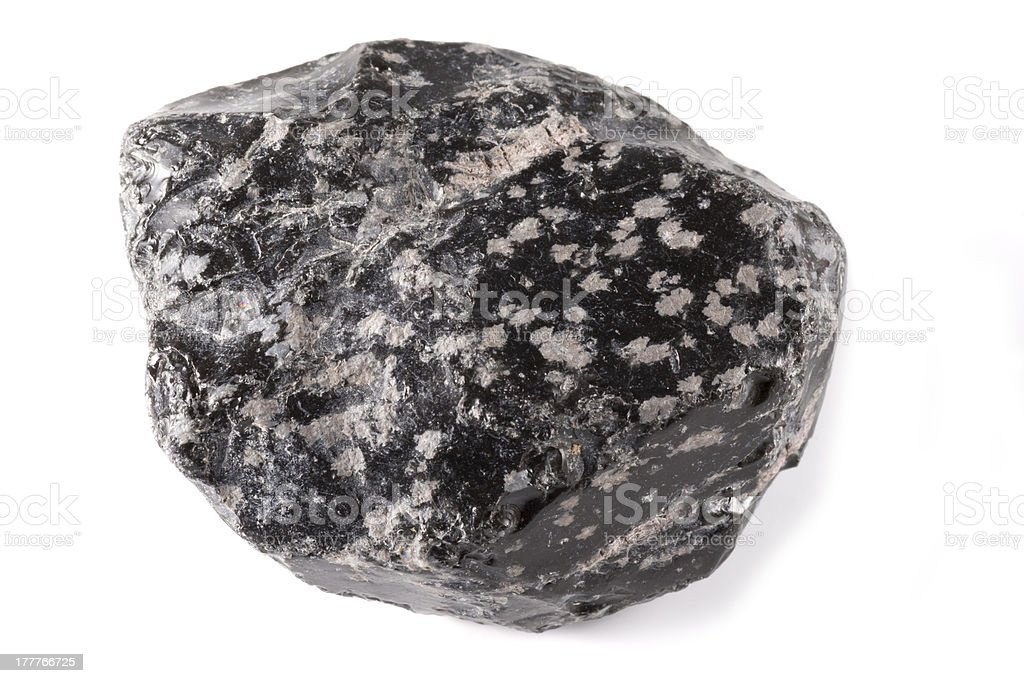 Obsidian Mineral royalty-free stock photo