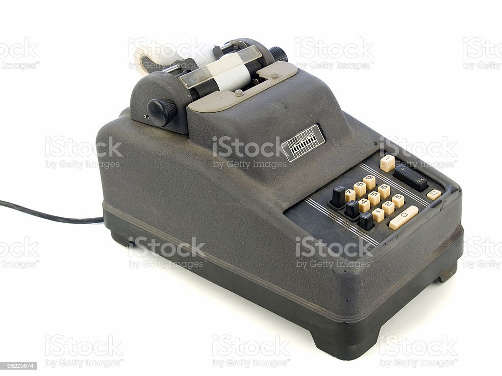 Obsolete adding machine royalty-free stock photo