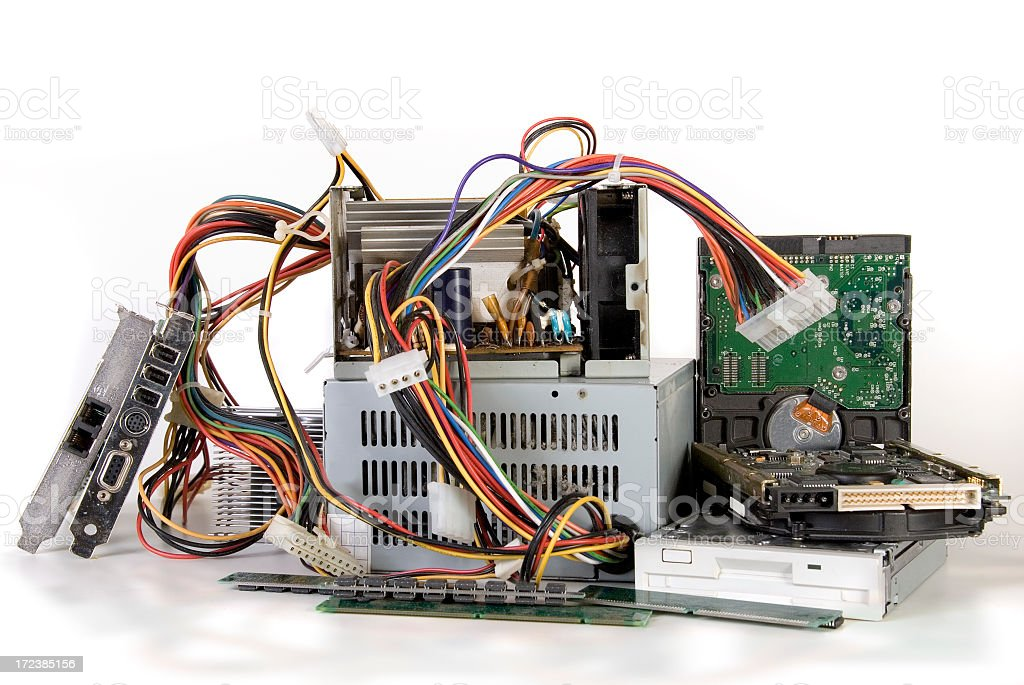 Obsolete Computer Parts royalty-free stock photo