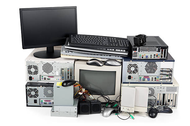 obsolete computer recycling - electronics industry stock pictures, royalty-free photos & images