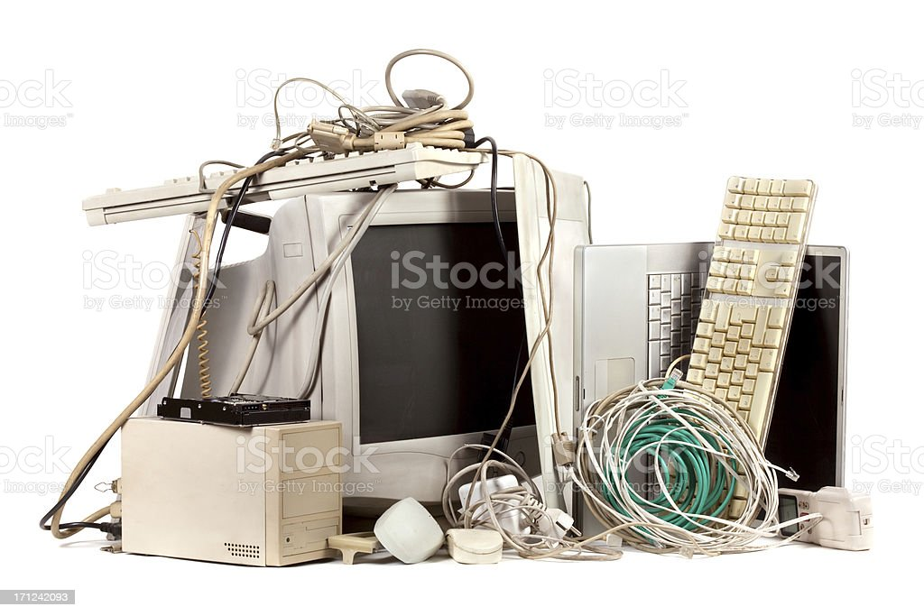 Obsolete electronics stock photo