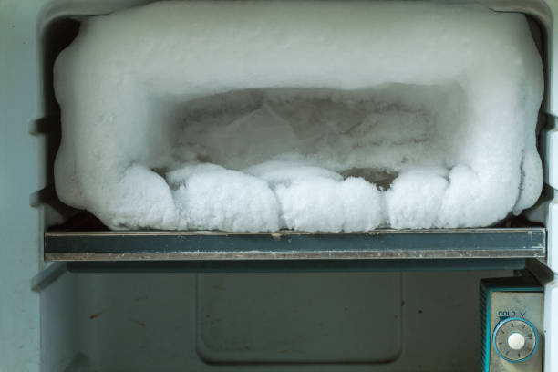 obsolete freezer and defrost control - defrost stock pictures, royalty-free photos & images