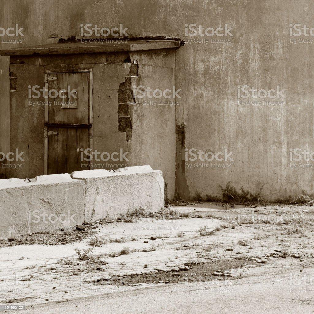 Obsolete Industrial Building Entrance Door royalty-free stock photo