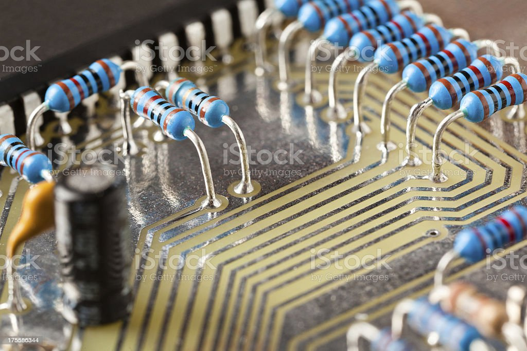 Obsolete PCB  technology stock photo
