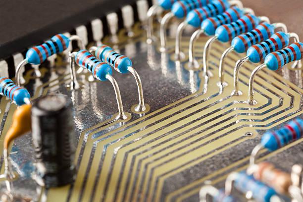 Obsolete PCB  technology stock photo