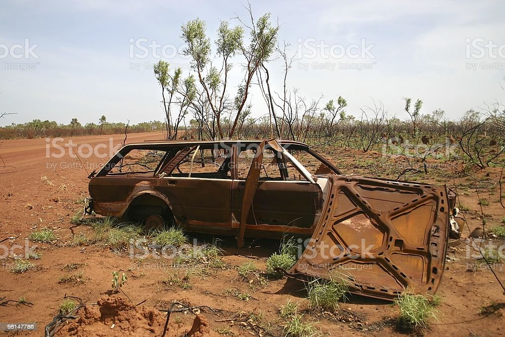 Obsolete Rusted Car royalty-free stock photo