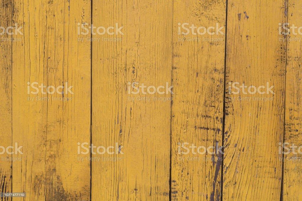 textura de fundo de madeira pintado amarelo obsoleto - foto de acervo
