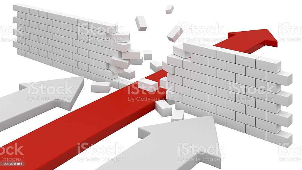 Obstacle concept stock photo