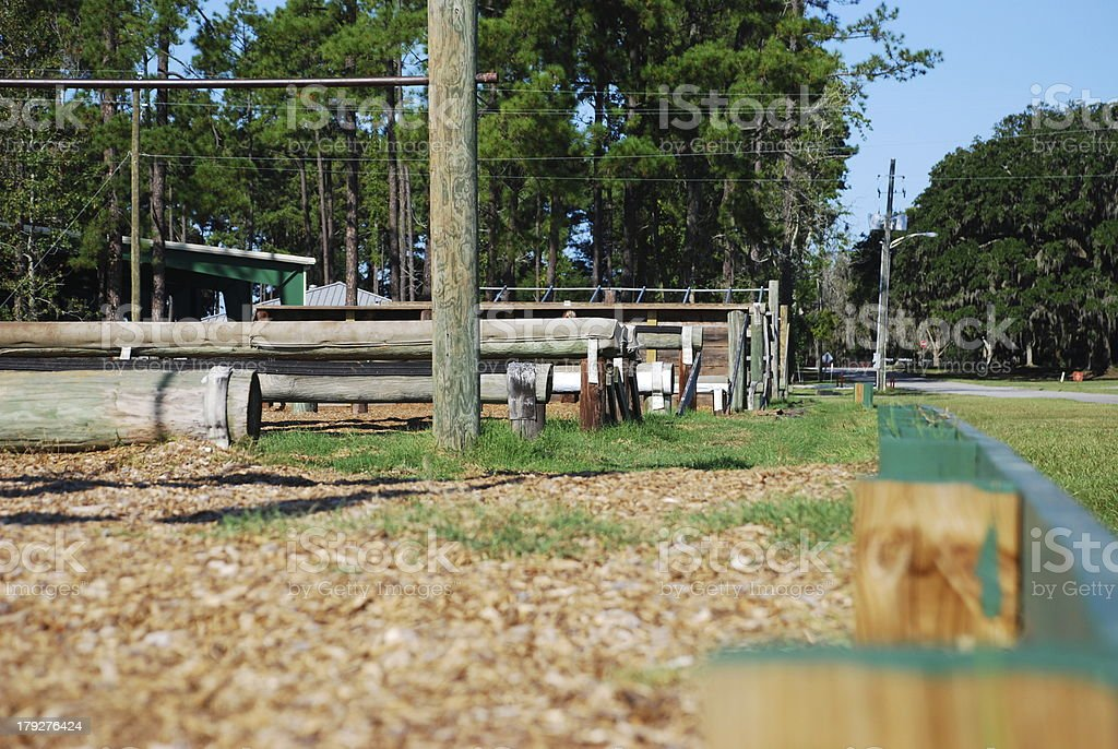 Obstacle Course stock photo