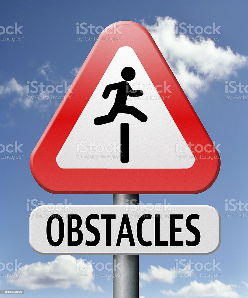 obstacles stock photo