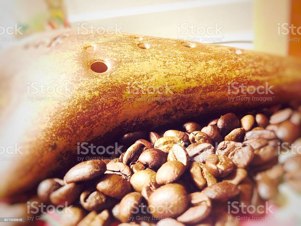 ocarina and coffee Lizenzfreies stock-foto