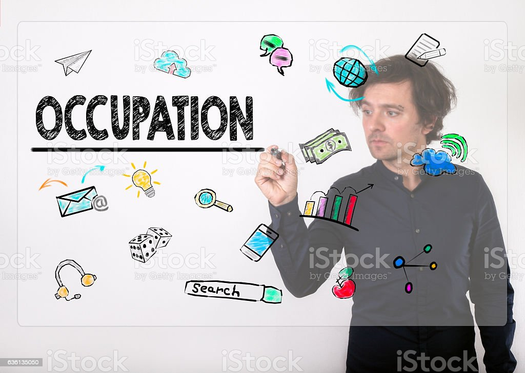 Occupation concept stock photo