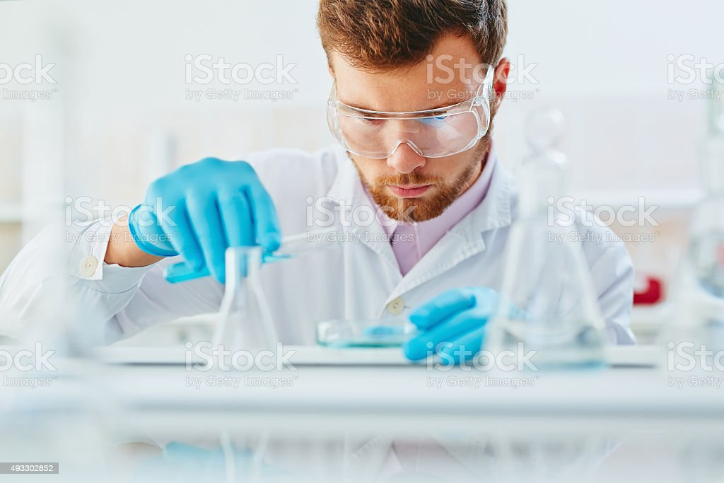 Occupation of microbiologist royalty-free stock photo