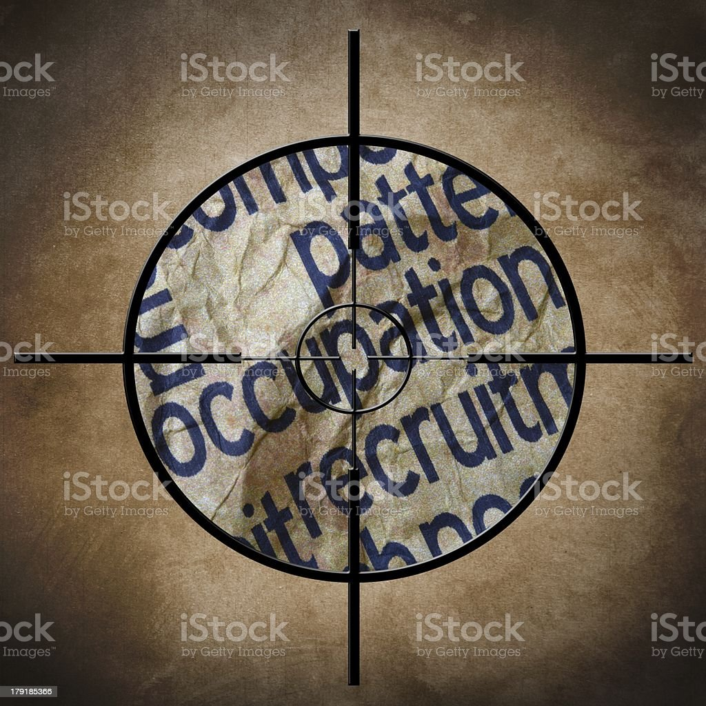 Occupation target concept royalty-free stock photo