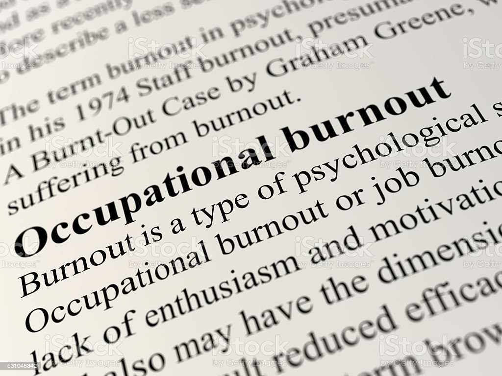 Occupational burnout stock photo
