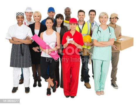 istock Occupations - Group of People 181869377